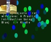 https://kpf.realfiedbook.com/?book=0134477367<br/>KEY BENEFIT <br/>Objects First with Java: A Practical Introduction <br/>is an introduction to object-oriented programming for beginners. The main focus of the book is general object-oriented and programming concepts from a software engineering perspective. The first chapters are written for readers with no programming experience with later chapters being more suitable for advanced or professional programmers. The Java programming language and BlueJ--the Java development environment -- are the two tools used throughout the book. <br/> <br/>BlueJ's clear visualization of classes and objects means that readers can immediately appreciate the differences between them and gain a much better understanding of the nature of an object than they would from simply reading source code. Unlike traditional textbooks, the chapters are not ordered by language features but by software development concepts. The Sixth Edition goes beyond just adding the new language constructs of Java 8. The book's exploration of this new language demonstrates a renaissance of functional ideas in modern programming. While functional programming isn't new in principle, it's seen a boost in popularity based on the current computer hardware available and the changing nature of projects programmers wish to tackle. Functional language constructs make it possible to efficiently automate currency, make use of multiple cores without much effort on the side of the programmer, are both more elegant and readable, and offer great potential in solving the issue of parallel hardware. Functional programming has become an essential part of the field, and <br/>Objects First with Java <br/>gives students a basic understanding of an area they'll need to master in order to succeed in the future. KEY TOPICS Objects and classes; Understanding class definitions; Object interaction; Grouping objects; Functional Processing of Collections (Advanced); More-sophisticated behavior; Fixed-size collections - arrays; Designing classes; Well-behaved objects; Improving structure with inheritance; More about inheritance; Further abstraction techniques; Building graphical user interfaces; Handling errors; Designing applications; A case study MARKET For anyone interested in object-oriented programming.<br/>